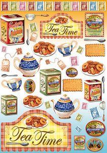 1 Blatt Decoupage Papier Tea and biscuits DFG 317