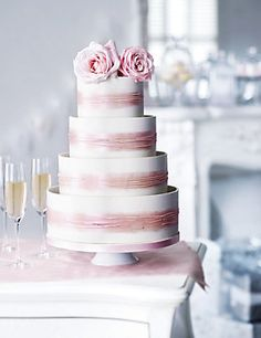 Marks And Spencer Wedding Cake Shimmering Hoop Chocolate White Pink