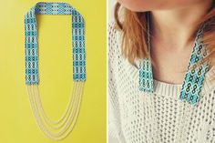Fall for DIY Ribbon and Chain Necklace