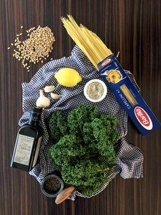 Capellini s kučeravým kelom a píniovými orieškami - Vegan Lady Kel, Vegan Vegetarian, Vegetarian Recipes, Capellini, Lady, Cooking, Kitchen, Brewing, Cuisine