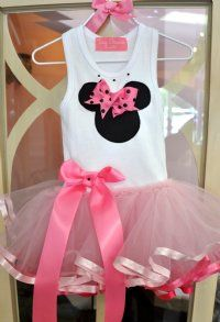 Girls Minnie Mouse Tutu Dress Personalize It! Available in 12 Months to - Children's Disney Clothing - Cassie's Closet Minnie Birthday, 1st Birthday Parties, Girl Birthday, Birthday Ideas, Birthday Cake, Minie Mouse Party, Mickey Minnie Mouse, Pink Minnie, Mini Mouse Dress