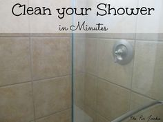 How To Clean Glass Shower Doors Easy Way Here's the recipe: 8 oz. (1 cup) of warm vinegar 8 oz. ( 1 cup) of Dawn