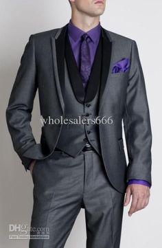 Wholesale Groom Tuxedos Best man Suit Wedding Groomsman/Men Suits Bridegroom (JacketPantsVestTie) A2, Free shipping, $101.92~134.4/Piece | DHgate Mobile