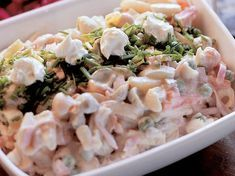 Juhlava italiansalaatti Bon Appetit, Pasta Salad, Potato Salad, Salad Recipes, Seafood, Food And Drink, Cooking Recipes, Yummy Food, Dinner