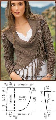 Fabulous Crochet a Little Black Crochet Dress Ideas. Georgeous Crochet a Little Black Crochet Dress Ideas. Crochet Jacket, Crochet Cardigan, Crochet Shawl, Knit Crochet, Knit Rug, Crochet Fabric, Knitting Patterns, Sewing Patterns, Crochet Patterns