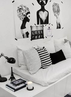 b&w, black and white, books, decor, decoration, living, post, tumblr