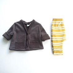 Our new Mustard Stripe Lounge Pants and Grey Cardigan make a perfect pairing