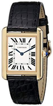 Cartier Womens Tank Solo Yellow Gold Case Watch ** Visit the image link more details. Cartier Tank Solo, Cartier Santos, Cartier Watches Women, Women's Watches, Luxury Watches, Cartier Panthere, Tank Watch, Princesa Diana, Jewelry