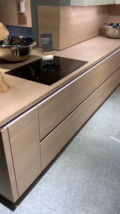 Kitchen Room Design, Home Room Design, Kitchen Cabinet Design, Modern Kitchen Design, Kitchen Layout, Home Decor Kitchen, Kitchen Ideas, Small Space Kitchen, Kitchen Dining