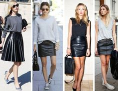 Como usar saia de couro dicas de moda e estilo Deisi Remus