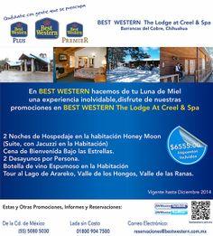 En BEST WESTERN The Lodge at Creel & Spa hacemos de tu Luna de Miel una experiencia inolvidable, consulta nuestra promoción