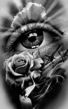 Tattoo Design, realistic eye with rose and candle. dessins de tatouage 2019 dessins de tatouage 2019 Tattoo Design, realistic eye with rose and candle. Skull Tattoos, Rose Tattoos, Leg Tattoos, Arm Tattoo, Body Art Tattoos, Tattoo Drawings, Sleeve Tattoos, Tatoos, Tattoo Ink