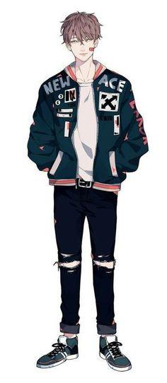 K mens fashion illustration anime, anime art, anim Cool Anime Guys, Handsome Anime Guys, Cute Anime Boy, Anime Boys, Anime Cosplay, Anime Outfits, Boy Outfits, Witcher Wallpaper, Anime Boy Zeichnung