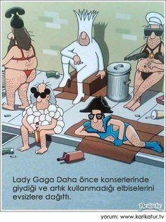Lady Gaga | Lady Gaga daha önce konserlerinde giydiği ve artık kullanmadığı elbiselerini evsizlere dağıttı. karikatür