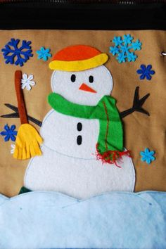 This snowman quiet book page makes me want Christmas to come even faster. :)