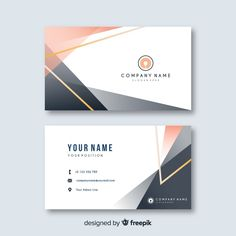 Discover thousands of free-copyright vectors on Freepik Business Cards Layout, Free Business Card Templates, Free Business Cards, Modern Business Cards, Professional Business Cards, Business Card Logo, Name Card Design, Bussiness Card, Business Card Design Inspiration