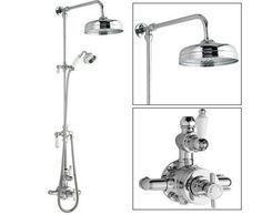 Ultra Grand Victorian Traditional Thermostatic Shower Mixer Valve with Riser Kit