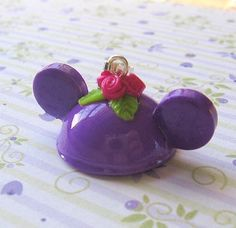 Mouse Ears Hat with Roses Flowers Rosettes Pendant by MigotoChou, $10.00
