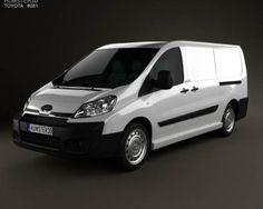 3D model of Toyota ProAce Van L2H1 2012