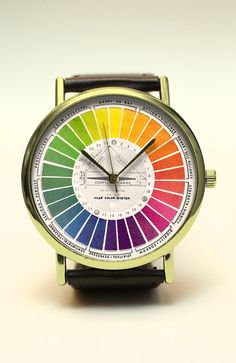 Color Wheel Handmade Watch, Color Watch, Abstract Art Watch, Vintage Style…