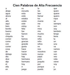 I Teach Dual Language: Palabras de alta frecuencia/High Frequency Words