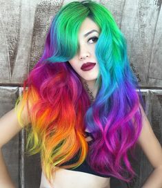#colorfulhair #hairstyle #halloweenhairstyle