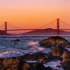 Golden Gate Bridge by oplattner #sanfrancisco #sf #bayarea #alwayssf #goldengatebridge #goldengate #alcatraz #california