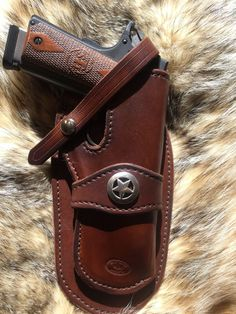 Posts about Gun holsters written by Thanh N. 1911 Holster, 1911 Pistol, Gun Holster, Pistol Case, Colt 1911, Revolver, Custom Leather Holsters, Western Holsters, Belt Pouch