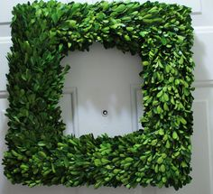 ellie liked at tree cutting site Boxwood Wreath ...from the front yard