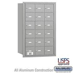 18 Door 4B  Horizontal Mailbox Rear Loading A Doors USPS Access