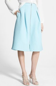 Chelsea28+Pleated+Jacquard+Midi+Skirt+available+at+#Nordstrom
