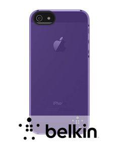 iPhone 5 / 5S Belkin Shield Sheer Matte Case - Paars