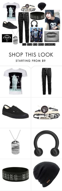 """""""Emo Boy BMTH"""" by abipatterson on Polyvore featuring Vans and Coal"""