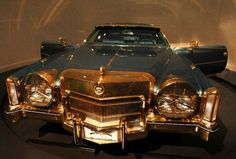 """Isaac Hayes' 1972 gold-trimmed, fur-lined, custom Cadillac El Dorado, complete with television and built in refrigerator, was custom made for him by Stax Records executive and one-time owner Al Bell shortly after Hayes received the Academy Award for Best Original Song for """"Theme from Shaft."""""""