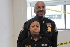 DPD Chief for a Day. Jan 31 Captain Darwin Roche and Jayvon Felton