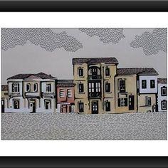 Lefkoşa (cm.30x20 tecnica mista su cartoncino) #lefkoşa #nicosia #art #draw #drawing✏ #artist #designers #sanat #grafiktasarım #resim #cyprus #illustrator #design #tolgaozasil