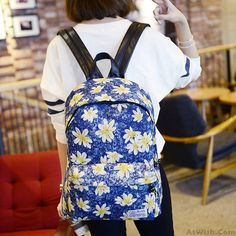Wow~ Awesome Fresh Printing Chrysanthemum Butterfly Denim Backpack! It only $31.99 at www.AtWish.com! I like it so much<3<3!