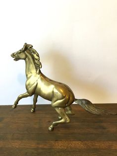 Mid Century Brass Stallion Horse sculpture by VintageParamour
