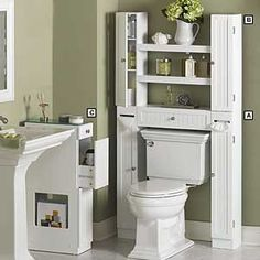 Country Chic Space Saver White Over Toilet Storagetoilet Shelvesideas For Small Bathroomsbathroom