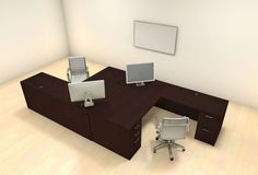 Two Persons Modern Executive Office Workstation Desk Set, – Office Furniture İdeas. Small Office Furniture, Furniture Layout, Furniture Ideas, Work Station Desk, Work Desk, Office Workstations, Executive Office, Desk Set, Office Decor