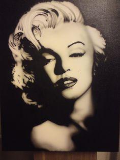 airbrush marilyn monroe by ekengreken on DeviantArt Marilyn Monroe Stencil, Marilyn Monroe Wallpaper, Airbrush Cake, Norma Jeane, Iconic Women, Line Art, Cebu, Pop Art, Halloween Face Makeup