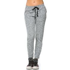 Comfy Drawstring Jogger Pants in Gray ($15) ❤ liked on Polyvore featuring activewear and activewear pants