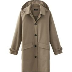 Dakota Johnson wearing A.P.C. Mac Hooded Morgate Coat
