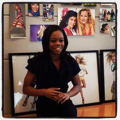 Gabby Douglas visits the Seventeen office! #17visitors