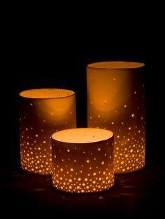 Clay Luminaries on Pinterest   Lanterns, Ceramics and Pottery