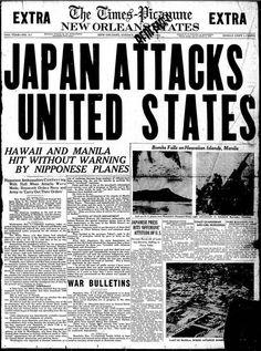 newspaper of the devastation and loss of lives during Pearl Harbor Pearl Harbor 1941, Pearl Harbor Day, Pearl Harbor Attack, Pearl Harbor Facts, History Facts, World History, Remember Pearl Harbor, Vintage Newspaper, Newspaper Headlines