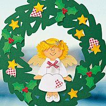 Fensterbilder für Weihnachten: Engelchen-Fensterbild basteln
