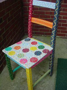 idea for hand painted high chair