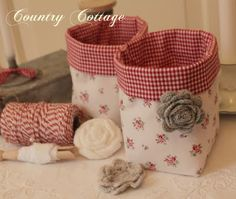 My Country Cottage Garden: Two sweet fabric boxes!