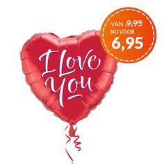 Ballon I LOVE YOU! versturen - KaartWereld